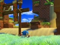 Sonic Forces: Classic Sonic rast im Gameplay durch die Green Hill Zone